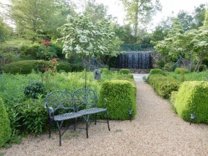 The garden provides great spaces to meditate, read, and relax.