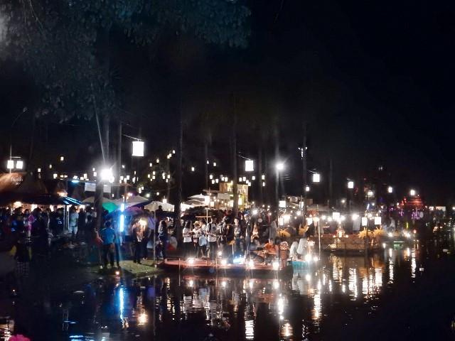 Evening sets in at Loi Krathong Festival.